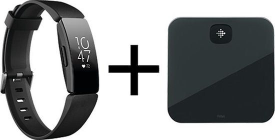 Fitbit Inspire HR Zwart + Aria Air bundle