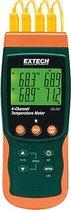 Extech Sdl200 Temperatuurmeter -199 Tot +1700 °C Sensortype K J T E R S Pt100 Datalogger-Functie