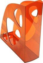 10x Tijdschriftenhouders voor documenten in A4+ formaat., Oranje transparant