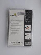 Kabel Drops - 6 stuks - kabels netjes wegleggen / ophangen