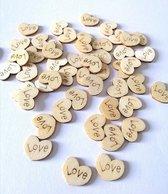 20 stuks houten hartjes Love, liefde, Valentijnsdag