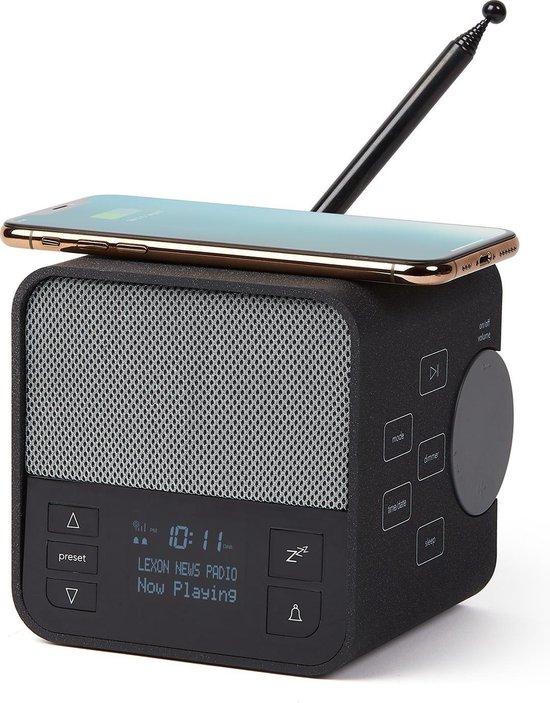 LEXON Oslo News DAB+ FM radio, speaker & draadloze mobiele lader grijs