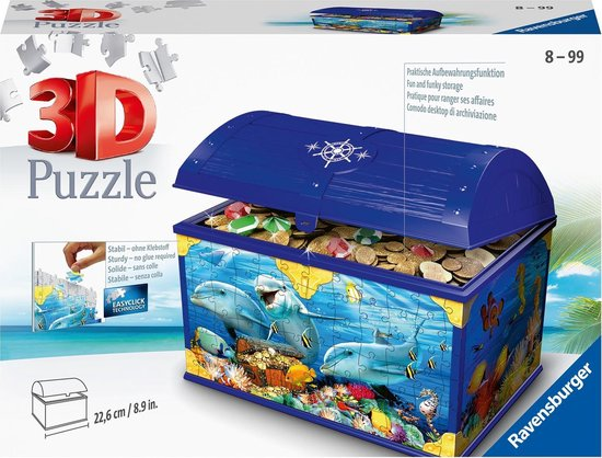 Ravensburger Opbergdoos Onderwaterwereld - 3D puzzel - 216 stukjes