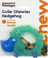 Petstages Orka Cutie Chewies Hedgehog - Hondenspeelgoed - 13x10x3 cm 160 g Mintgroen Blauw
