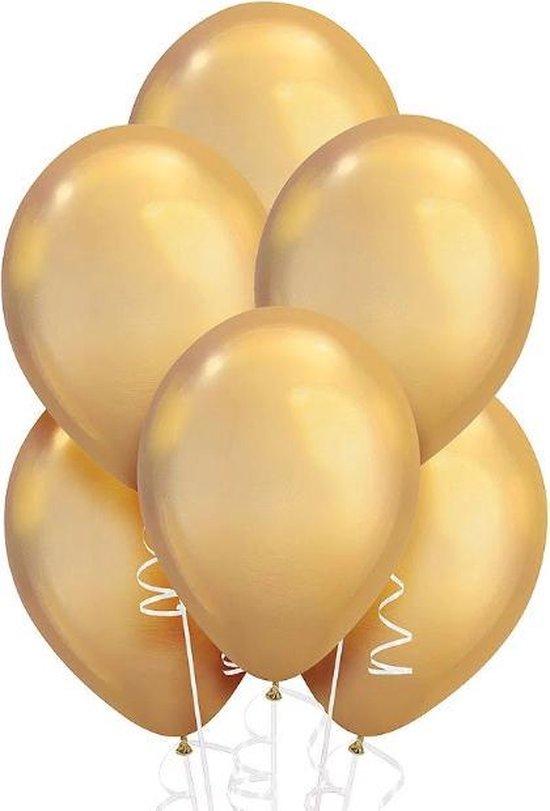 Chrome Ballonnen Goud 10 stuks
