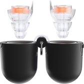 Thone M1 oordoppen 23 dB demping gehoorbescherming voor muziek festival concert uitgaan - membraanfilter filtert ruis voor betere beleving - gehoorbescherming - incl. handig luxe doosje - Oranje   Transparant