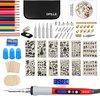Ofille® Luxe Houtbrander Set - Pyrografie - Soldeerbout  - Rood