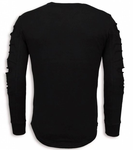 Justing 3d Stamp Paris Trui - Damaged Sweater Zwart Heren Xl