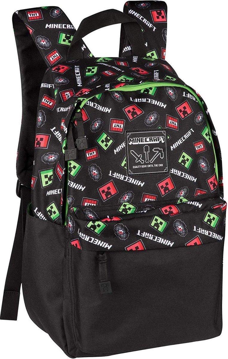 Minecraft Scatter Creeper Rugzak / Backpack - zwart