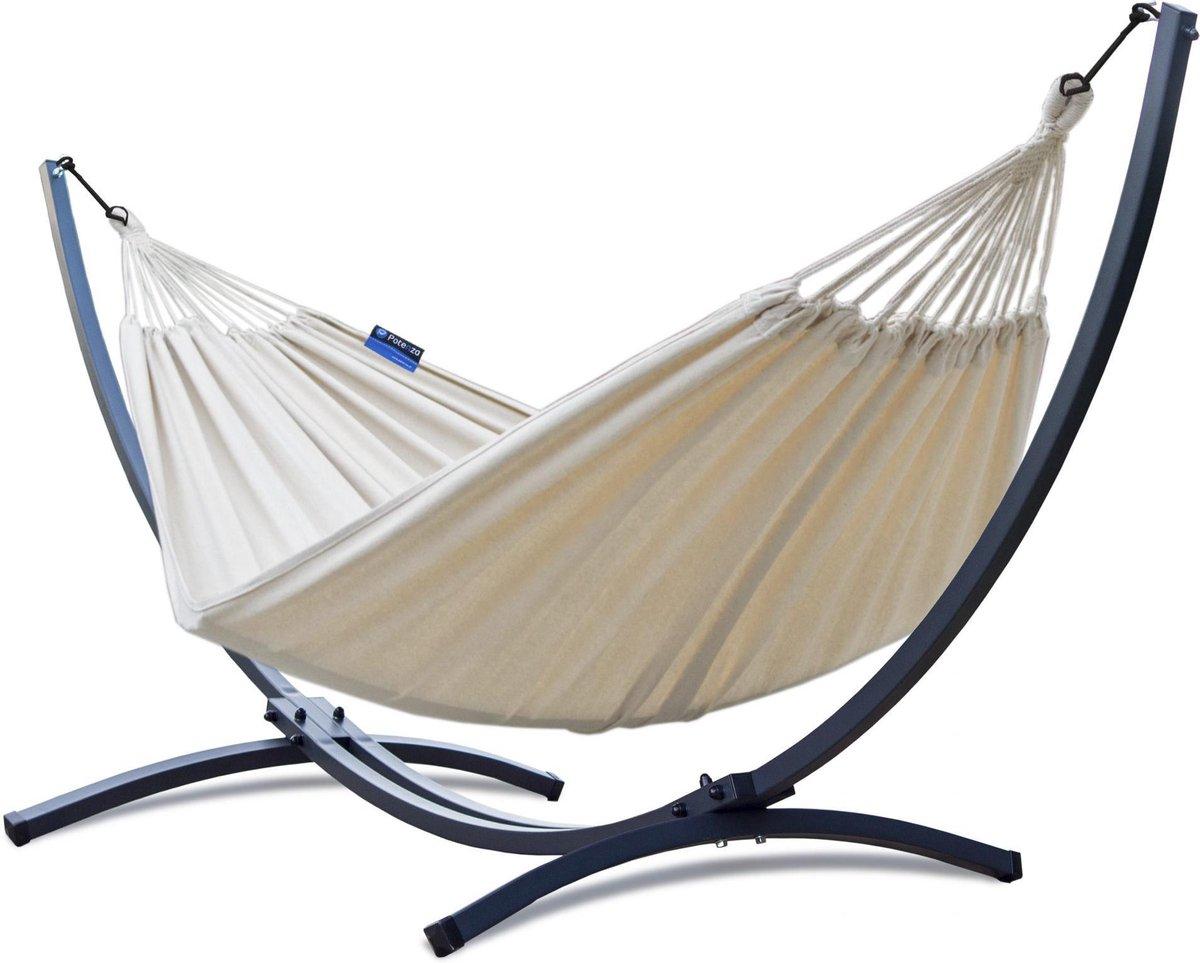 Hangmat met standaard   2 persoons   EXTRA STABIEL frame tot 220 kg   Hangmatsets - Grande