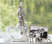Sculptuur Keramiek  liefde met hart