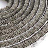 WiseGoods Tochtstrips voor Deuren  - Tochtband - Tochtstrip Deur - Tochtborstel - Deurborstel Zelfklevend - Grijs - 5M - 9mm