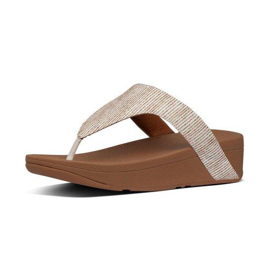 Fitflop™ Lottie Glitter Stripe Toe-thongs Polyester Stone - Maat 40 TIW2v1