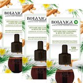 Botanica by Air Wick Elektrische Geurverspreider - Caribische Vetiver & Sandelhout - Navulling - 3 Stuks Voordeelverpakking