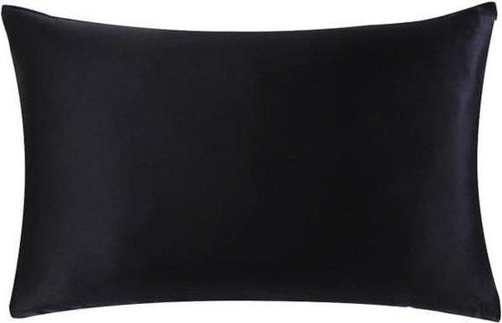 YOSMO - Zijden kussensloop - kleur zwart - 66 cm x 51 cm - 100% Zijde - Moerbei