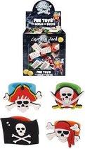 156 STUKS | Gekleurde Piraten Kinderringen in Traktatiebox (Traktatie / Uitdeelcadeautjes)