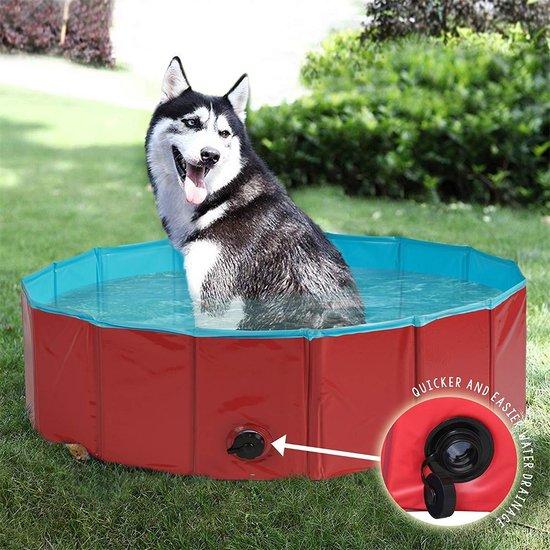 Hoogwaardige opvouwbare hondenzwembad 80x30 cm - Multifunctioneel - Perfect voor huisdieren, puppy's, katten of als kinderbadje, badkuip of ballenbad