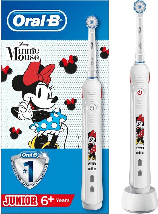Oral-B Pro2 Junior Minnie Kind Roterende-oscillerende tandenborstel Wit