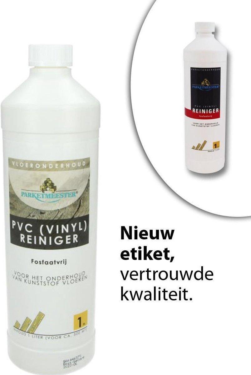 PVC vloer Reiniger 1 L Parketmeester - PVC Reinigen - Kunststof / Vinyl / PVC onderhoud vloer -  PVC