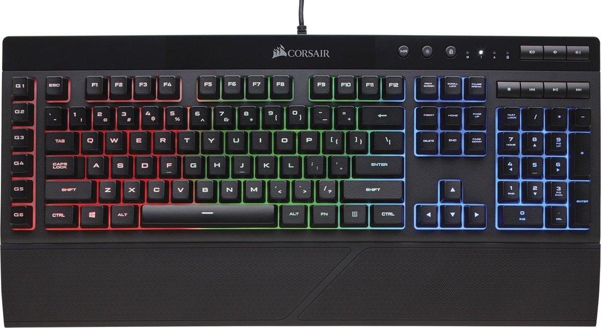 Corsair K55 RGB Membraan Qwerty Gaming Toetsenbord