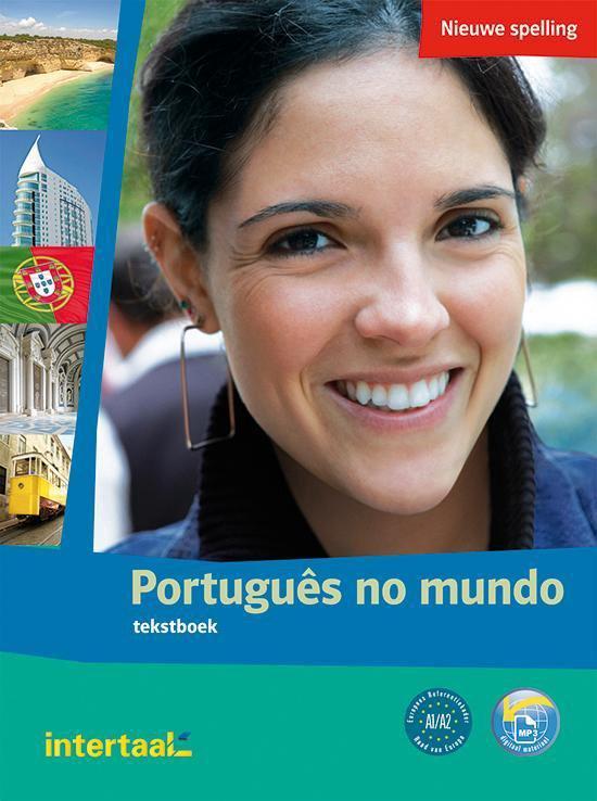 Boekomslag voor Português no mundo tekst- en werkboek + audio-cd's (2x)