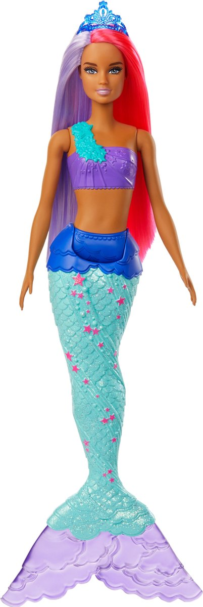 Barbie Dreamtopia Zeemeermin Roze en Paarse haren - Barbiepop