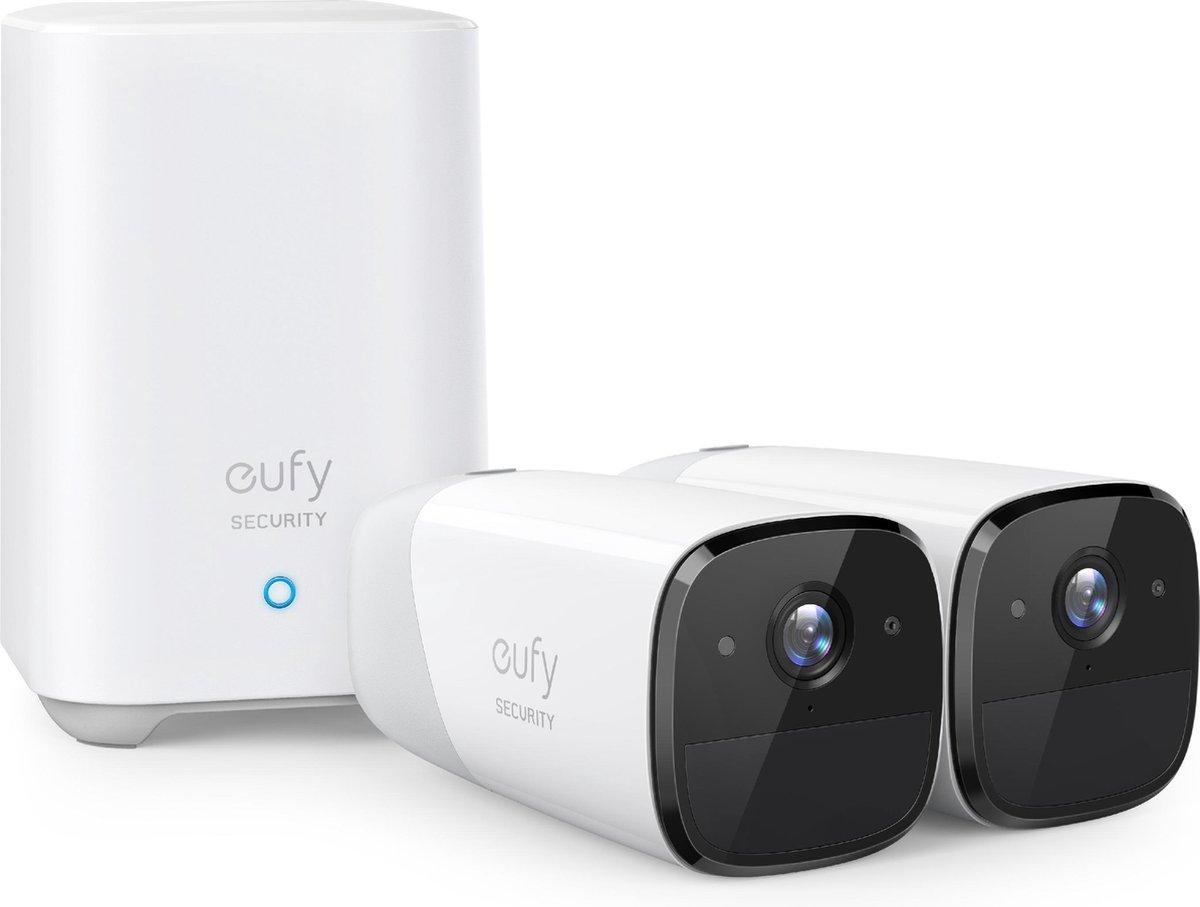 Eufycam 2 - 2 beveiligingscamera's / IP-camera's + basisstation - 365 dagen batterij - Voor binnen &