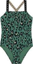 Shiwi Girls swimsuit luxe leopard - groen - 140