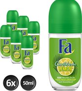 FA Deo Roller - Caribbean Lemon - Voordeelverpakking 6 x 50 ml