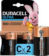 Duracell Ultra alkaline C-batterijen, verpakking van 2