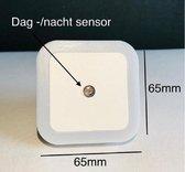 Lightcontrol LED Nachtlampje met Sensor - Wit- LED Verlichting - Nachtlampje stopcontact - Kinderen & Baby - Nacht lampje Babykamer - Nacht Lamp - Vierkant - Dag en Nacht Sensor - Stopcontact