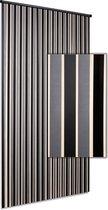 Vliegengordijn/deurgordijn Linten High Quality - zilver zwart 90x220cm