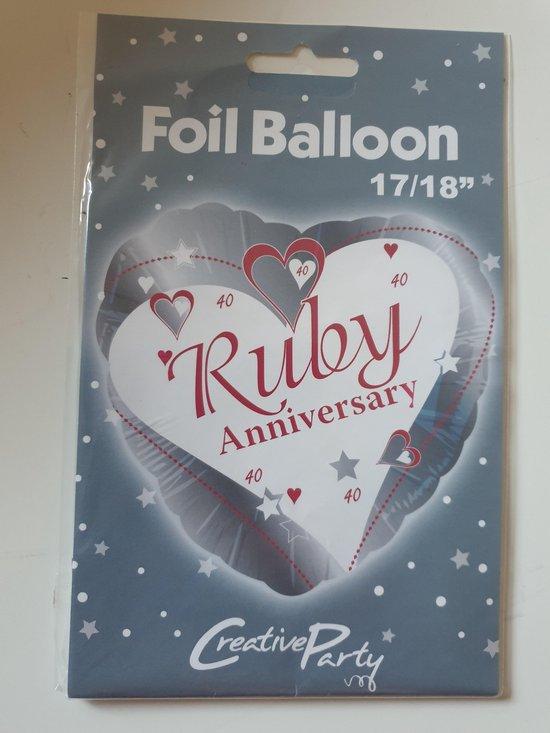 Folie ballon Ruby Anniversary
