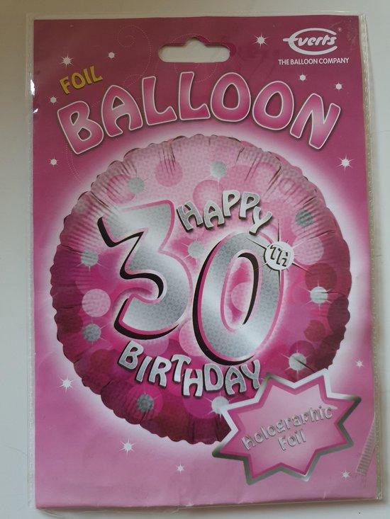 Folie ballon 30 jaar