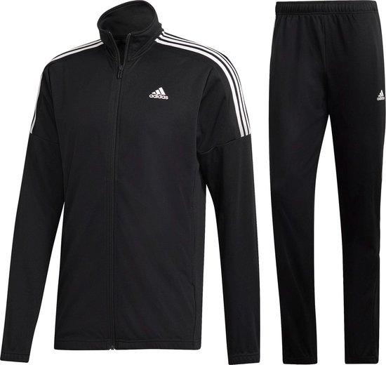 adidas MTS Team Sports Heren Trainingspak - Black/Black/White - Maat XL