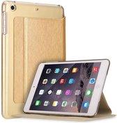 Apple iPad Pro 9.7 inch Folio Semi transparent Flip cover PU Leather hoesje Goud