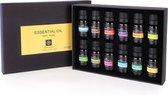 JAP Etherische Oliën - Essentiele olie aroma diffuser - Giftbox set 12 stuks