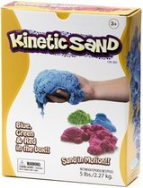 Kinetic Sand, blauw, groen en rood