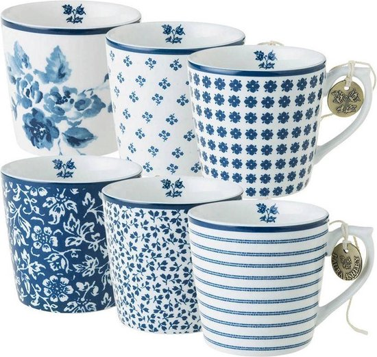 Laura Ashley Blueprint Collectables Bekers 35cl (6 delig)
