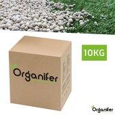 Kalk Korrel meststof verrijkt met magnesium (10Kg - Voor 200m2)  voor dieper bladgroen (+PH)  Speciaal voor gazon, Perken, Moestuin en openbaar groen - Organifer