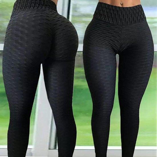 LOUZIR Sportlegging-Yoga -Scrunch Butt-High Waist- Absorberend- Anti Cellulite Legging-Gym Sports -Legging Fitness Wear-Zwart- maat M