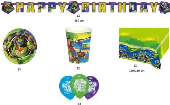 Ninja Turtles Versiering Verjaardag Feestpakket
