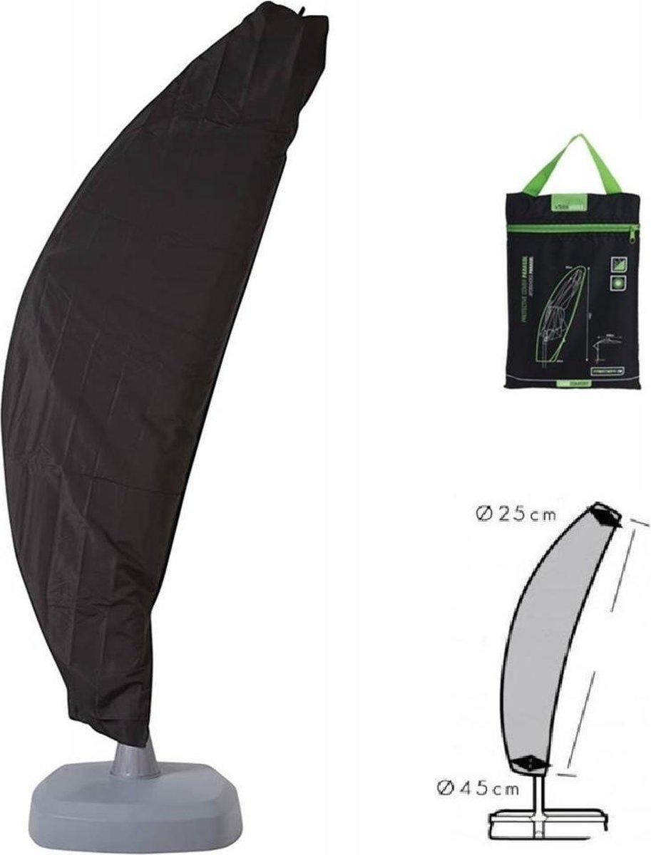 MaxxGarden Parasolhoes - Zweefparasol afdekhoes - 200-300 cm - met Rits en Trekkoord - Zwart