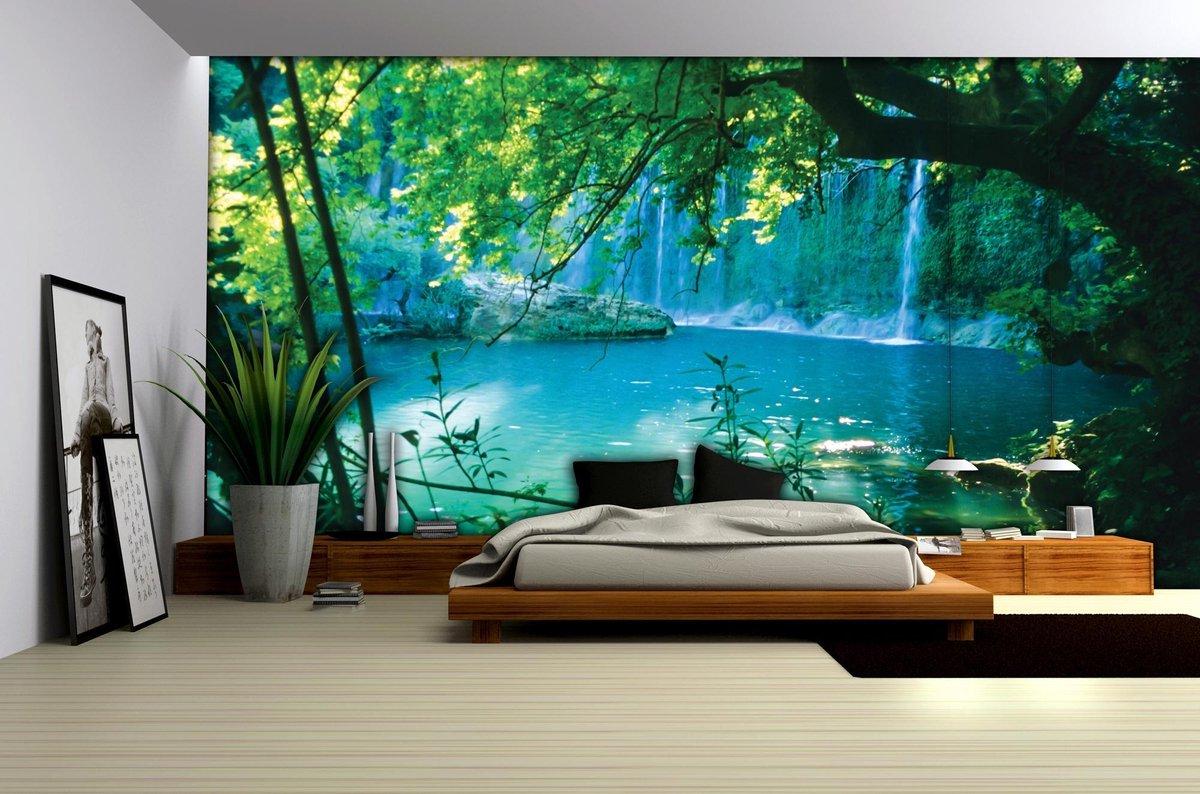 Fotobehang verborgen meer - 254cm x 368 cm - 4 rollen behang
