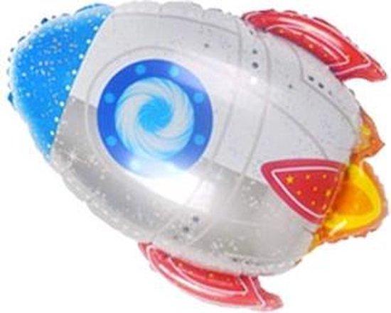 Folieballon Ruimteschip - 58cm - Ruimte Versiering - Raket Decoratie - Ruimte Feest