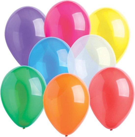 Amscan Ballonnen 27,5 Cm Gekleurd Crystal 10 Stuks