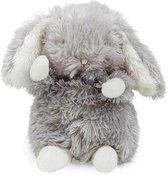 Bunnies By The Bay knuffel klein Konijntje 18 cm grijs