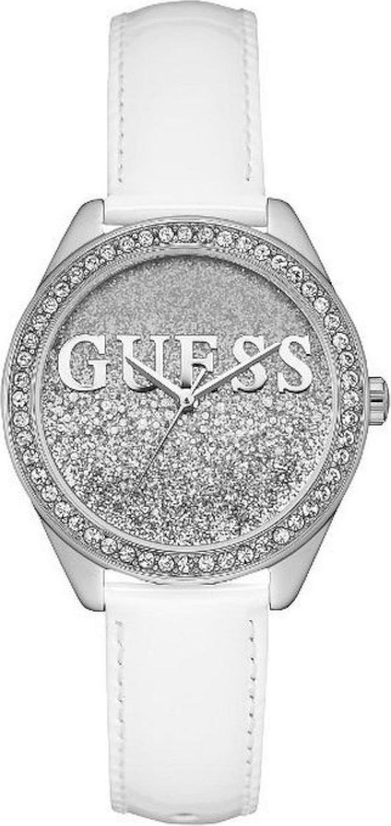 GUESS Watches Dames Horloge W0823L1 - leer - wit - Ø 36 mm - GUESS