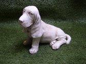 Beagle Tuinbeeld hond decoratie voor binnen/buiten - beton
