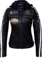 Urban Leather Fifty Eight Leren Motorjas Dames - Zwart - Maat L